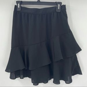 Modcloth Black Tiered Skirt